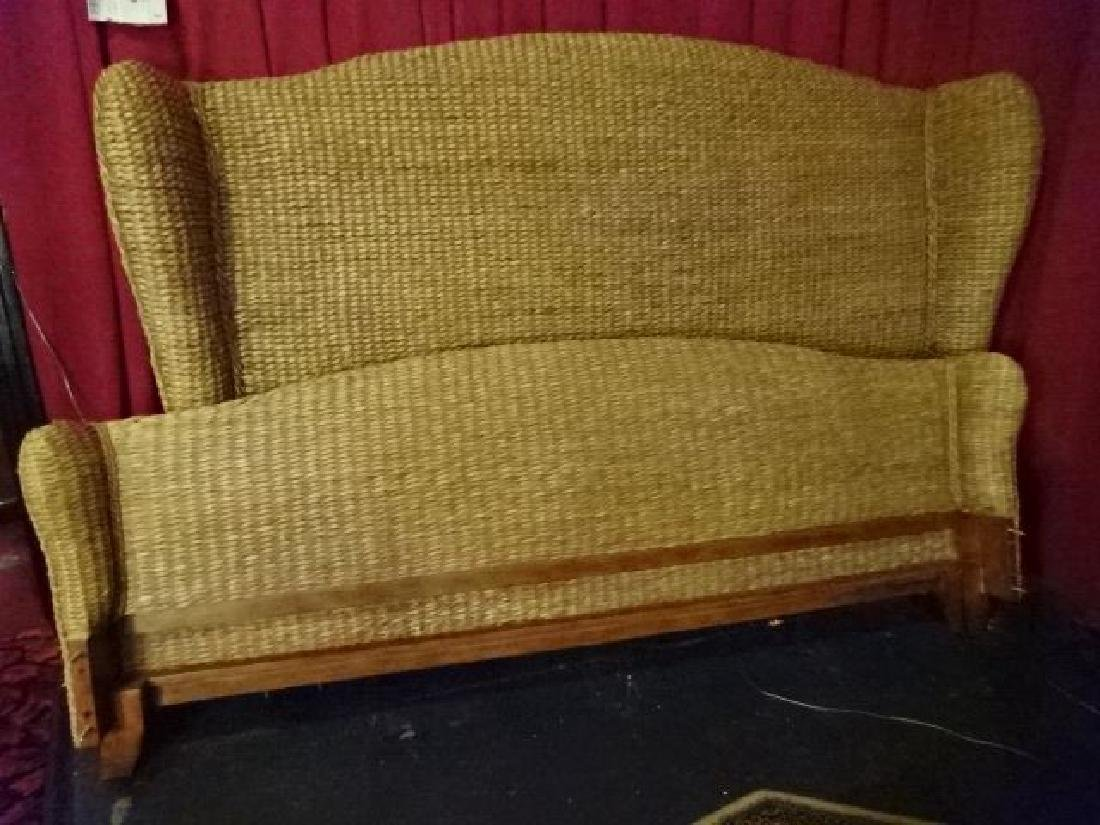 KING SIZE RATTAN AND WOOD BED, TOMMY BAHAMA STYLE, - 2