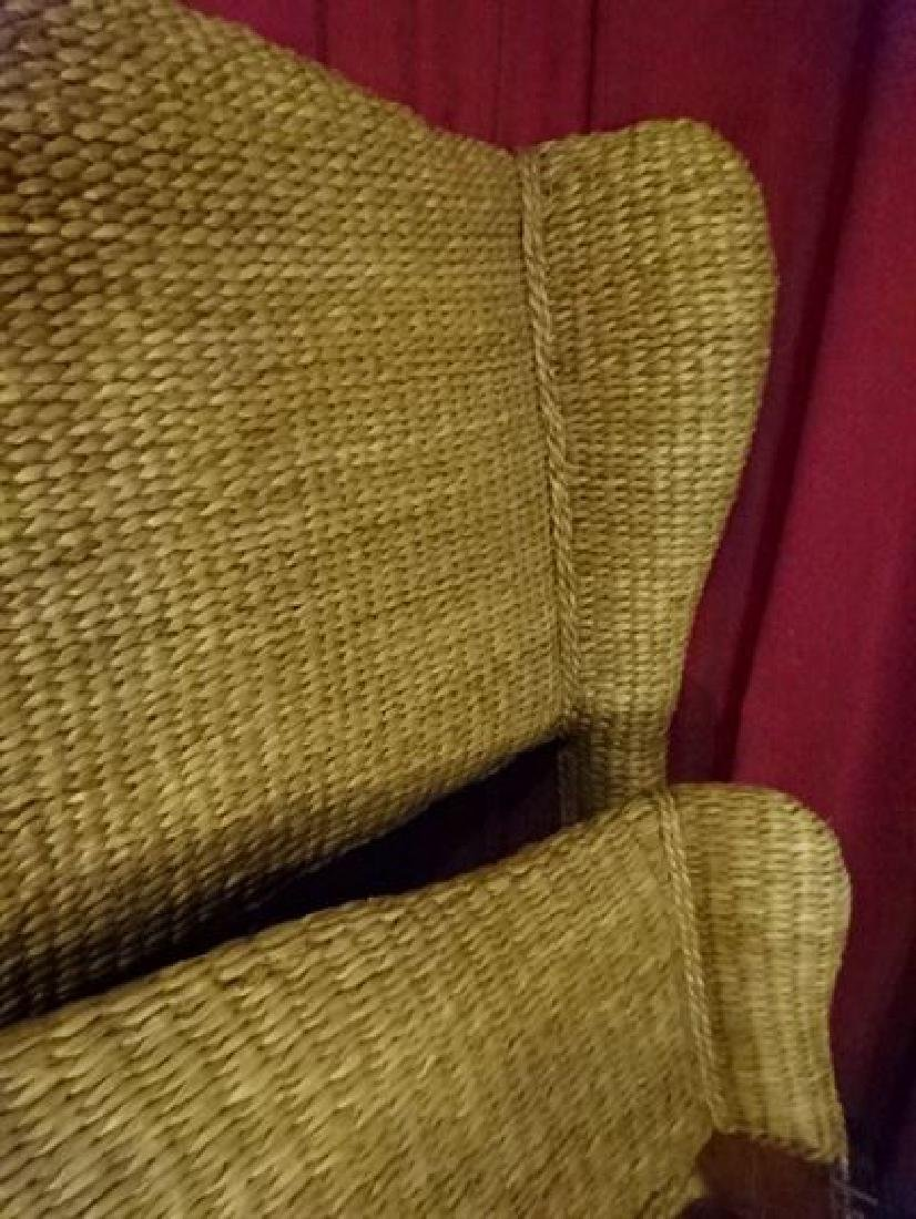 KING SIZE RATTAN AND WOOD BED, TOMMY BAHAMA STYLE, - 3