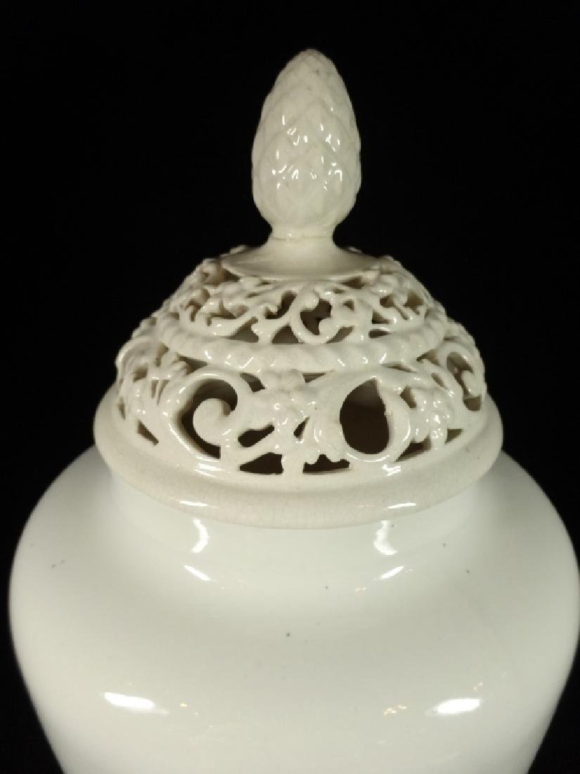 ANTIQUE WILLETS BELLEEK VASE WITH RETICULATED TOP, - 10