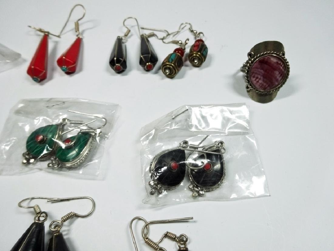 11 PC COSTUME JEWELRY, INCLUDES 10 PAIRS OF EARRINGS - 4