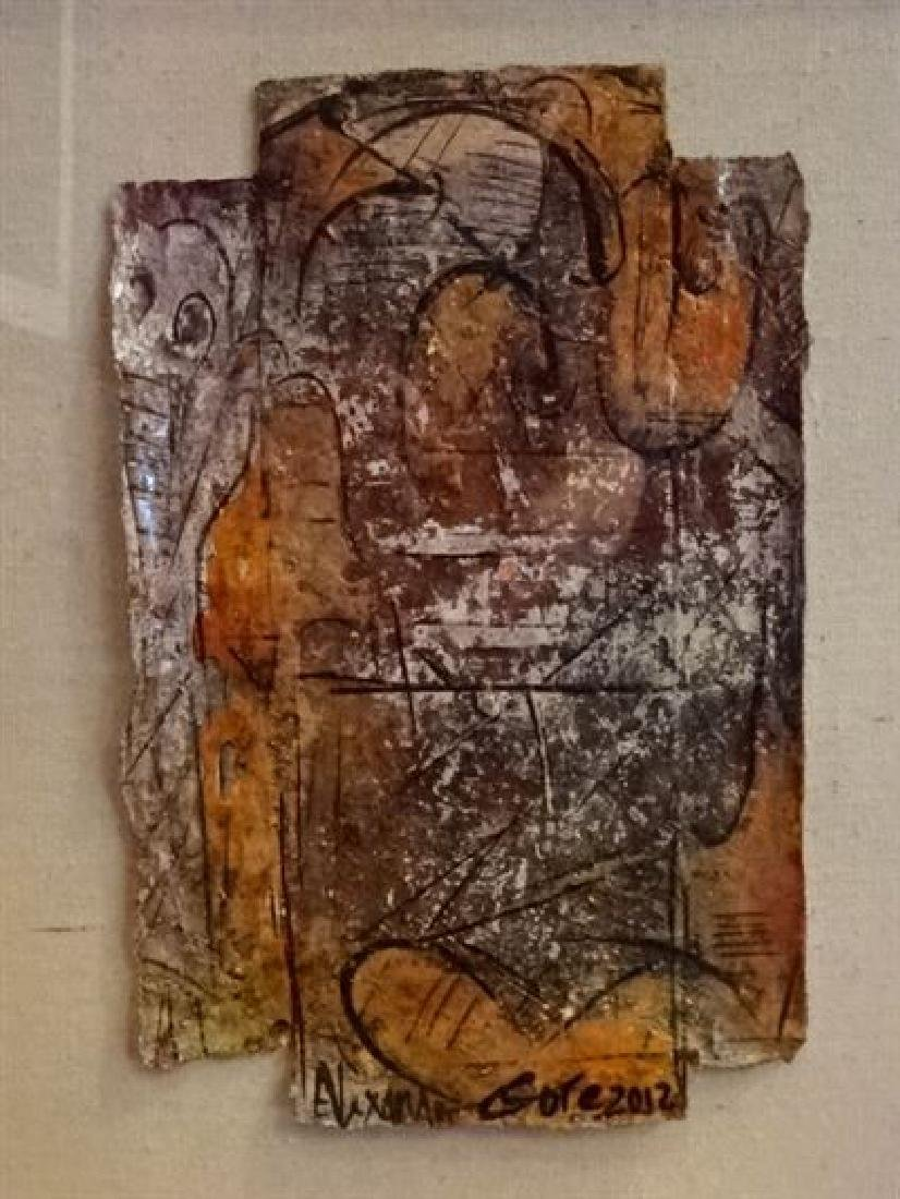 ALEXANDER GORE ABSTRACT OIL PAINTING, SIGNED LOWER - 3