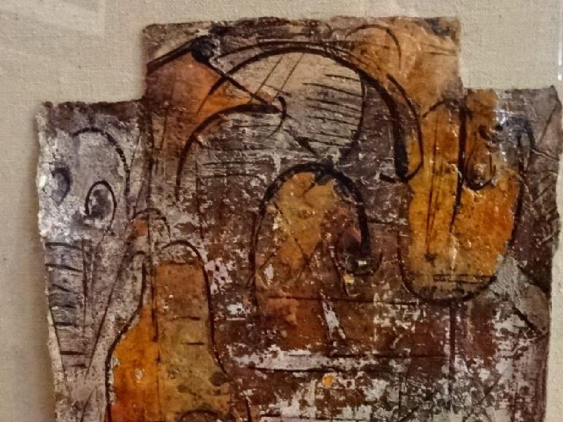 ALEXANDER GORE ABSTRACT OIL PAINTING, SIGNED LOWER - 4