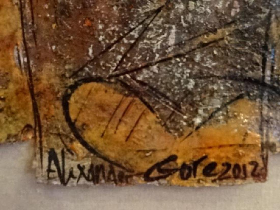 ALEXANDER GORE ABSTRACT OIL PAINTING, SIGNED LOWER - 6