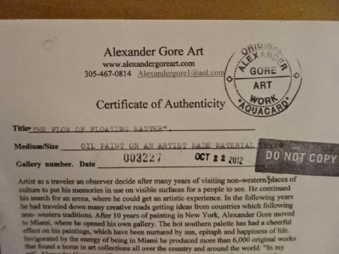 ALEXANDER GORE ABSTRACT OIL PAINTING, SIGNED LOWER - 8