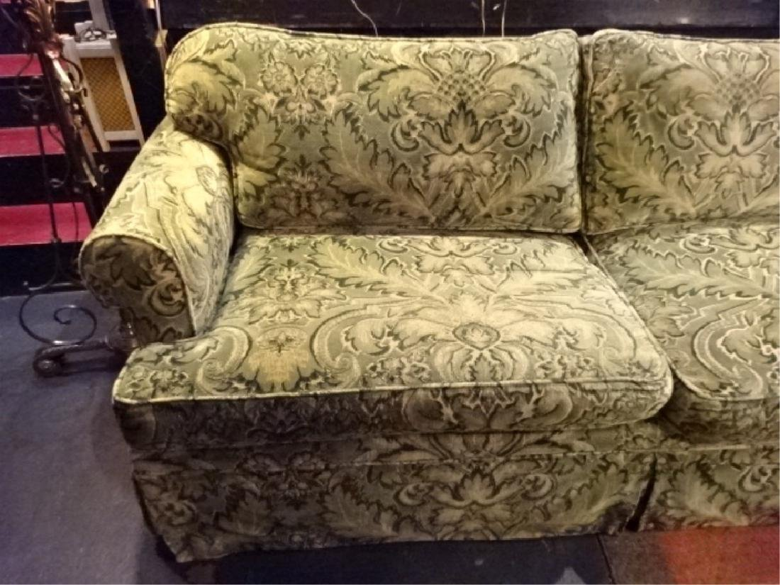 CHENILLE DAMASK SLEEPER SOFA IN GREEN AND GOLD (#2 OF - 2