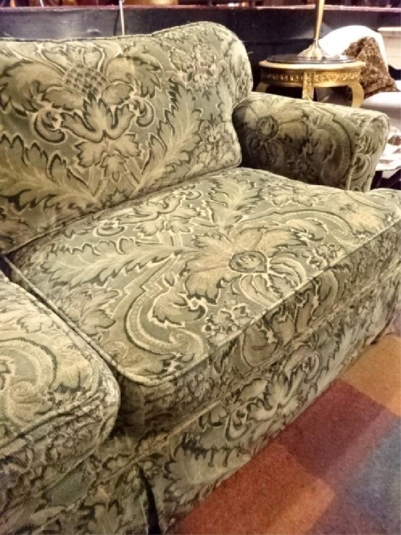 CHENILLE DAMASK SLEEPER SOFA IN GREEN AND GOLD (#2 OF - 3