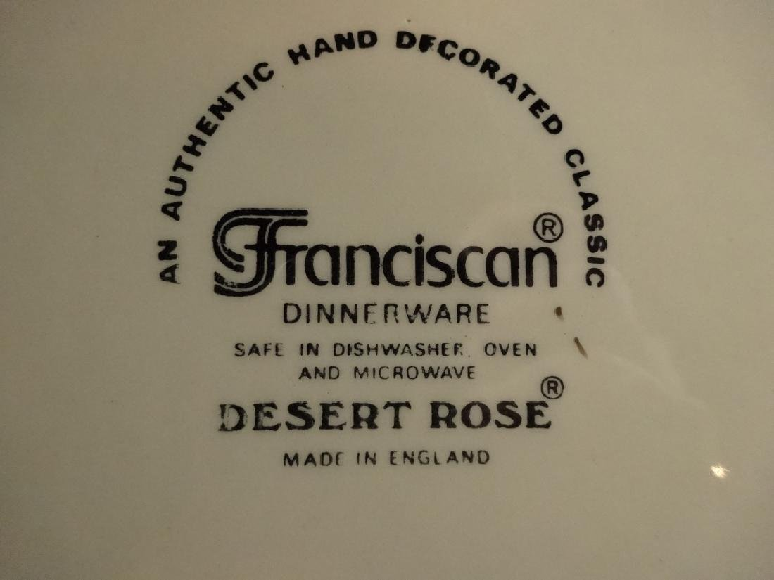 97 PC FRANCISCAN DESERT ROSE DINNER SERVICE, INCLUDES 8 - 9