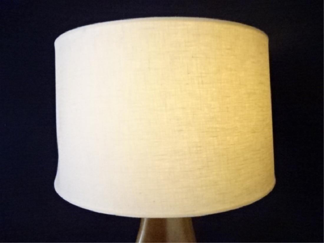 MID CENTURY MODERN BRONZE LAMP, 3 LEGGED BRONZE METAL - 4