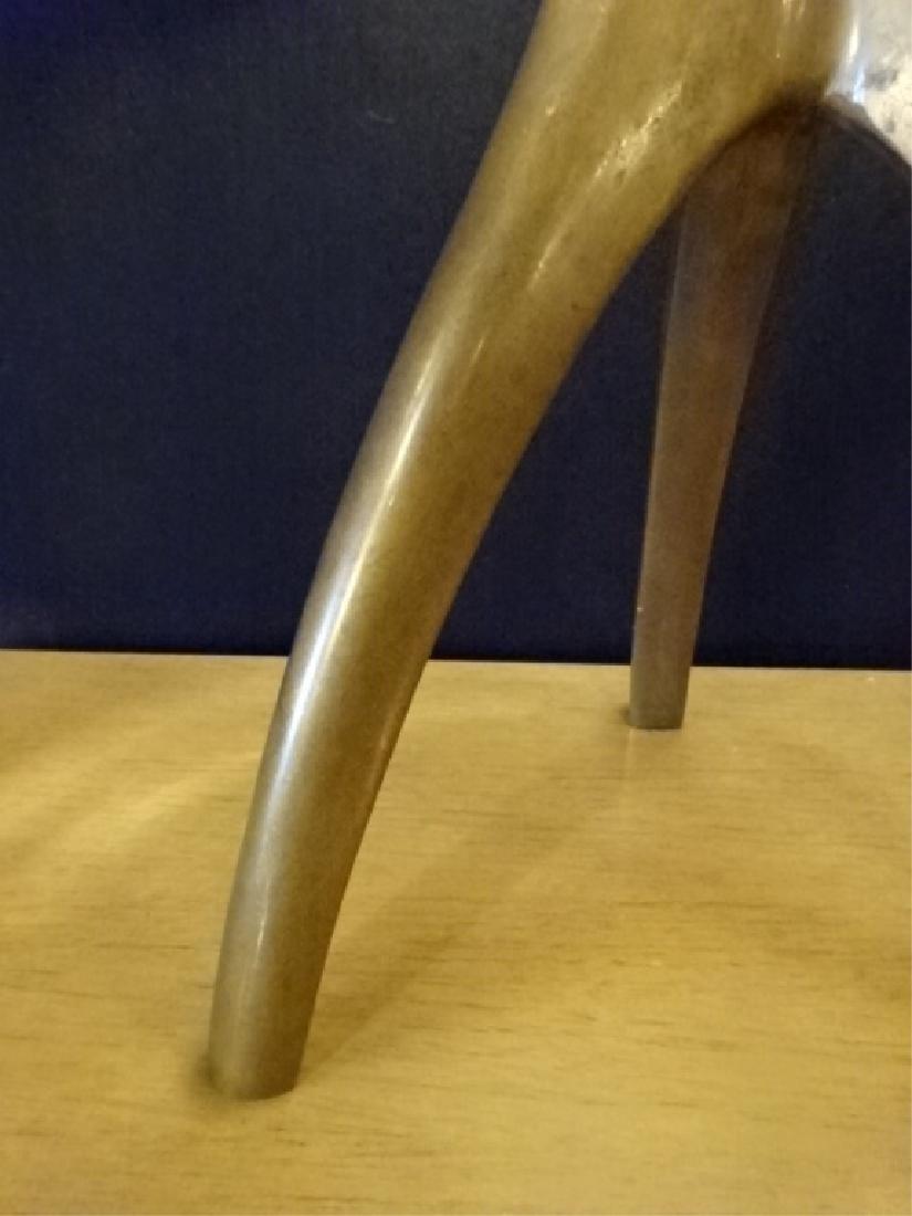 MID CENTURY MODERN BRONZE LAMP, 3 LEGGED BRONZE METAL - 5