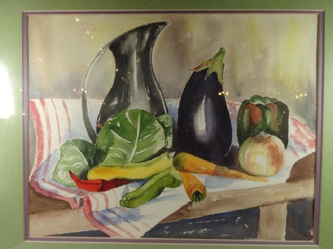WATERCOLOR PAINTING ON PAPER, STILL LIFE WITH