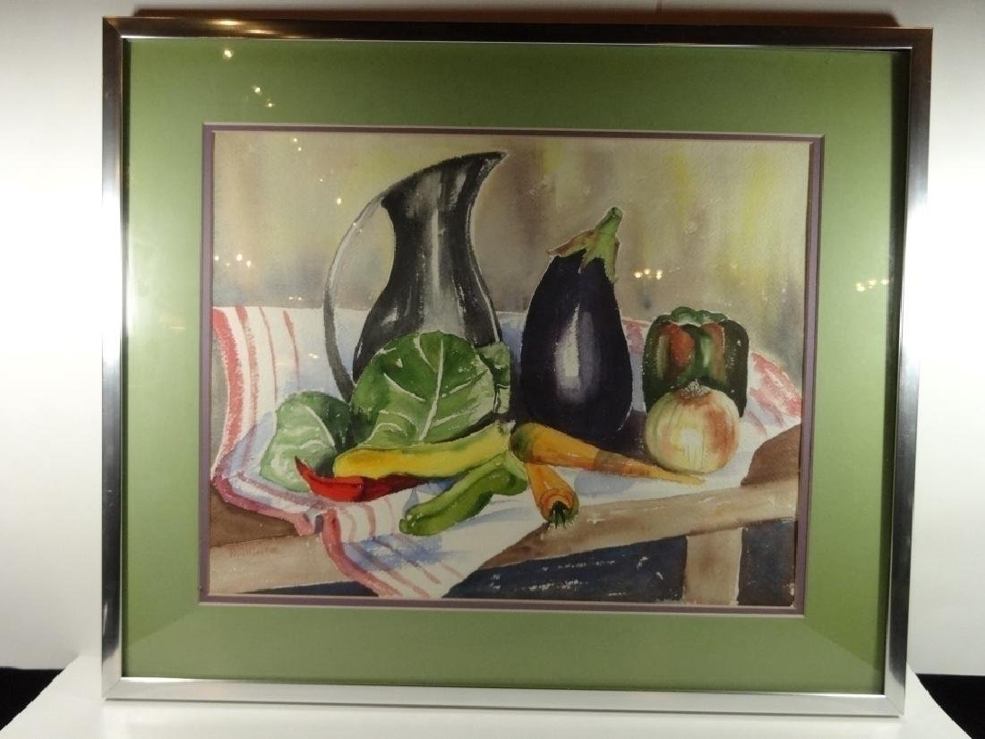 WATERCOLOR PAINTING ON PAPER, STILL LIFE WITH - 2