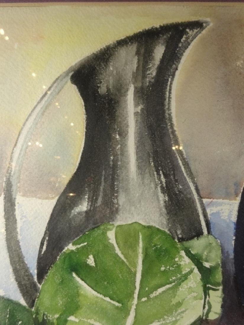 WATERCOLOR PAINTING ON PAPER, STILL LIFE WITH - 3
