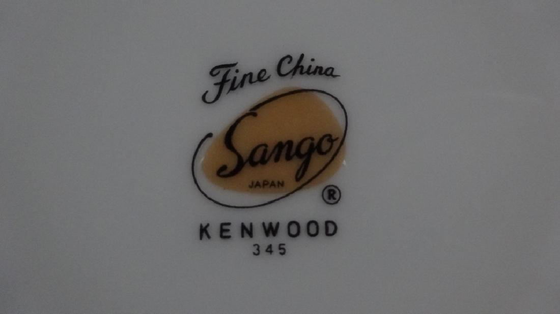95 PC SANGO CHINA SERVICE FOR 12, KENWOOD PATTERN, - 9