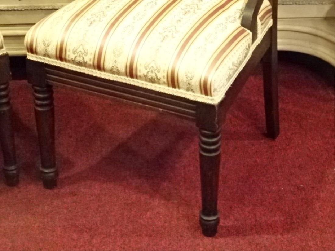 PAIR VICTORIAN PARLOR CHAIRS, 19TH C., GOLD AND IVORY - 6