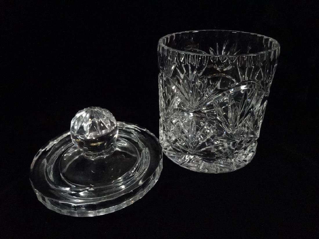 CRYSTAL ICE BUCKET WITH LID, 24% LEAD CRYSTAL, APPROX - 5