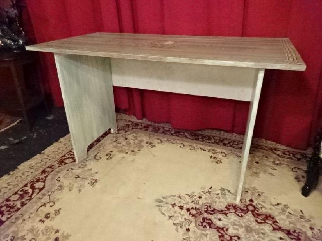 2 PC PAINTED DESK AND CHAIR, NEW NEVER USED, WOOD DESK - 5