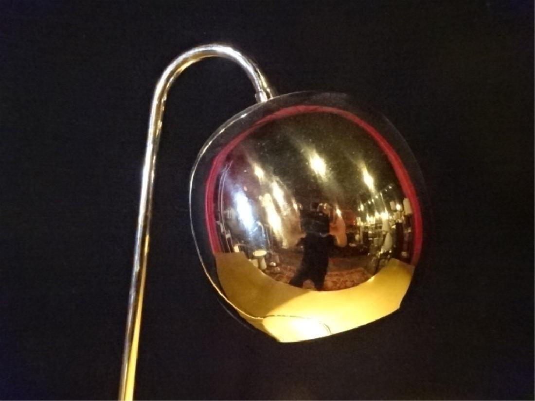 MID CENTURY MODERN CHROME DESK LAMP WITH BALL SHADE, - 2