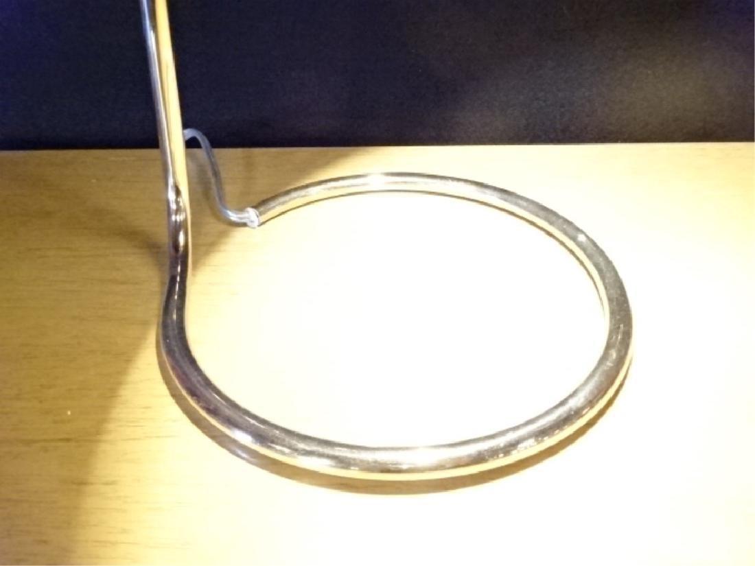 MID CENTURY MODERN CHROME DESK LAMP WITH BALL SHADE, - 3