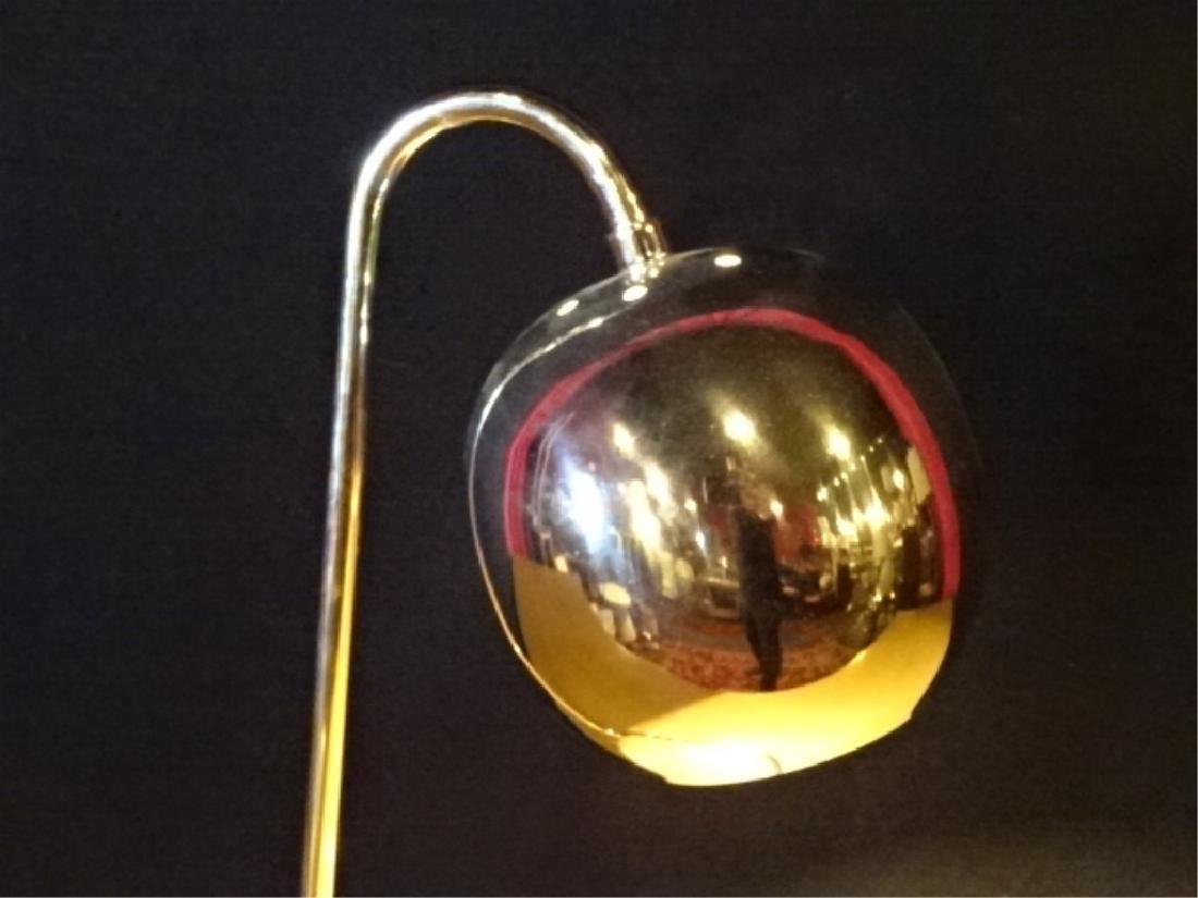 MID CENTURY MODERN CHROME DESK LAMP WITH BALL SHADE, - 4