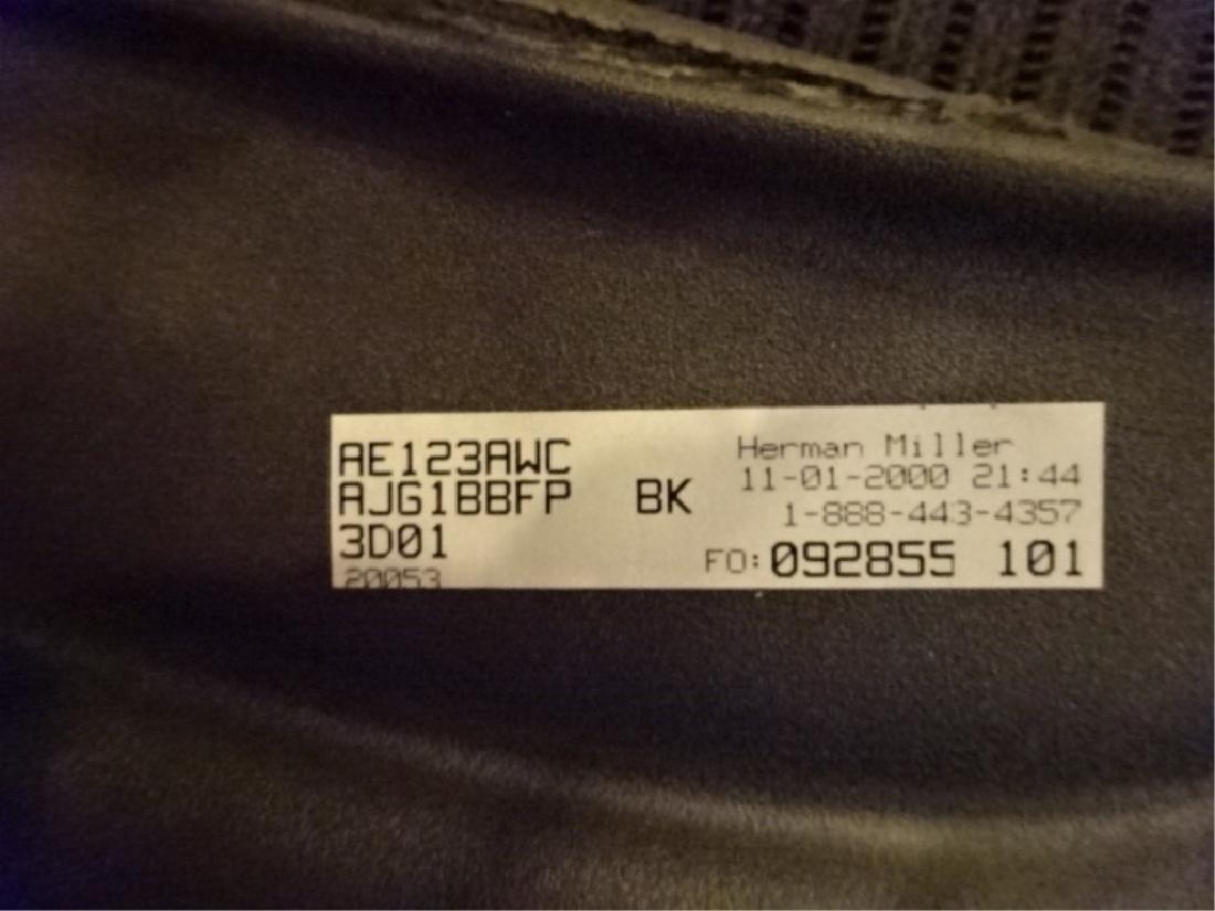 HERMAN MILLER AERON DESK CHAIR, CHARCOAL BLACK MATTE - 2