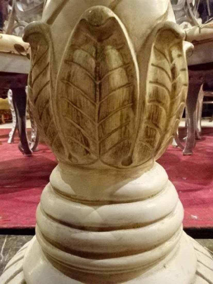 CERAMIC PEDESTAL, OFF WHITE FINISH, VERY GOOD - 3