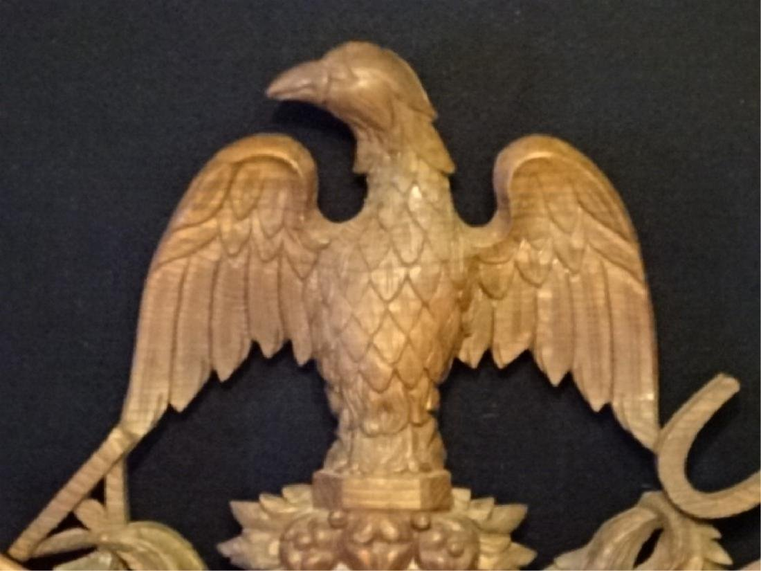 19TH C. WOOD EAGLE WALL PLAQUE, VERY GOOD CONDITION - 2