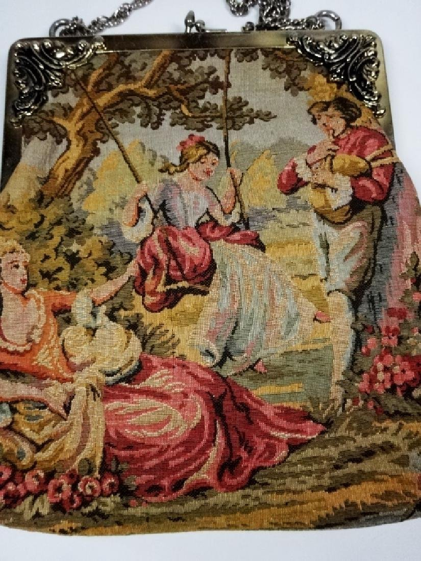 """VINTAGE TAPESTRY PURSE, JR OF FLORIDA, APPROX 8.5"""" X 8"""" - 2"""