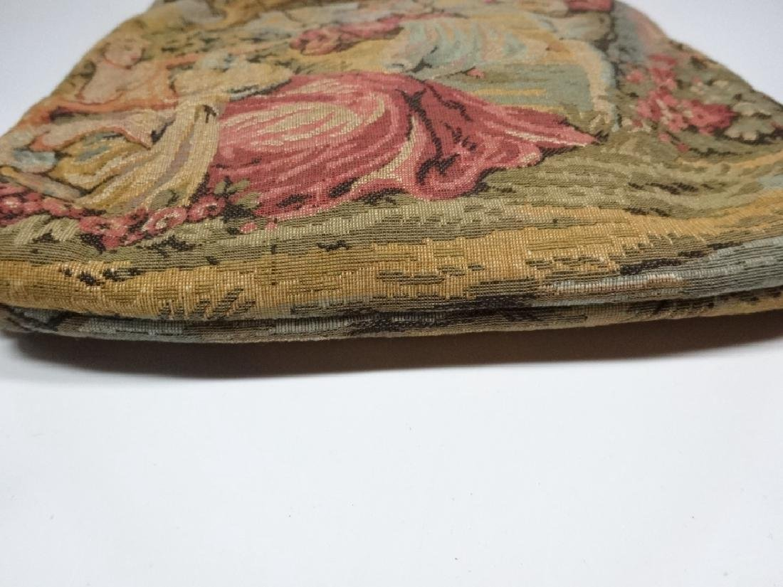 """VINTAGE TAPESTRY PURSE, JR OF FLORIDA, APPROX 8.5"""" X 8"""" - 5"""