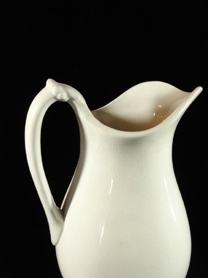 """ANTIQUE WHEELING POTTERY CO. PITCHER, WHITE, APPROX 13"""" - 2"""