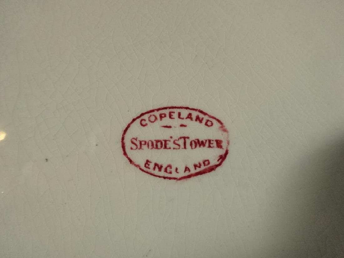 COPELAND SPODE'S TOWER PLATTER, RED TRANSFERWARE, MADE - 4