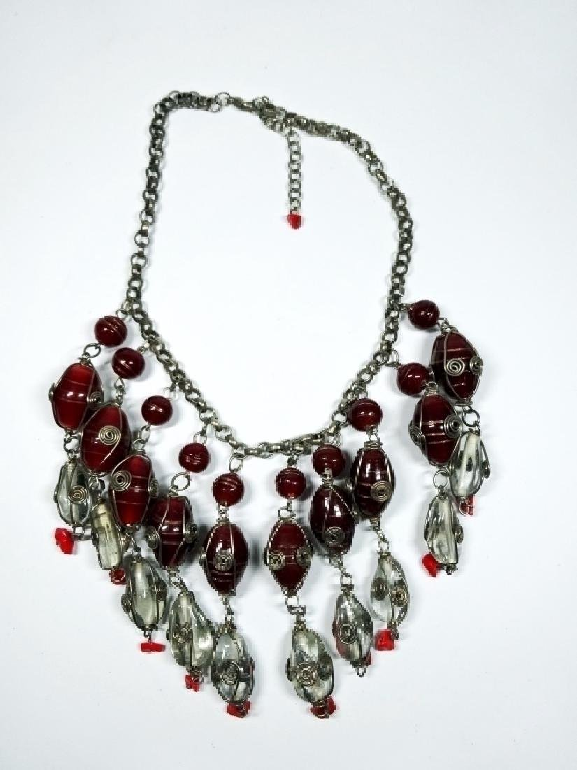 "COSTUME JEWELRY NECKLACE, APPROX 17.5""L"