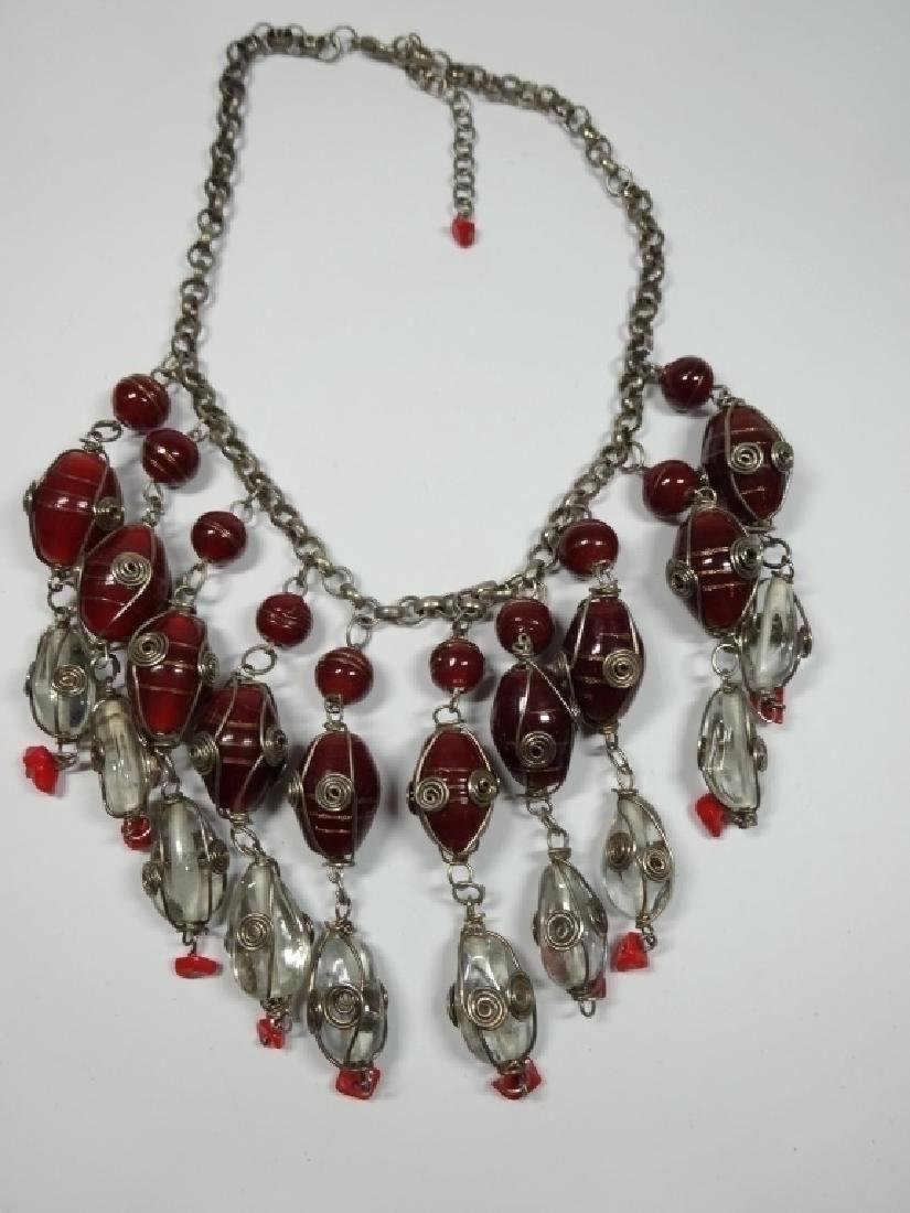 "COSTUME JEWELRY NECKLACE, APPROX 17.5""L - 3"