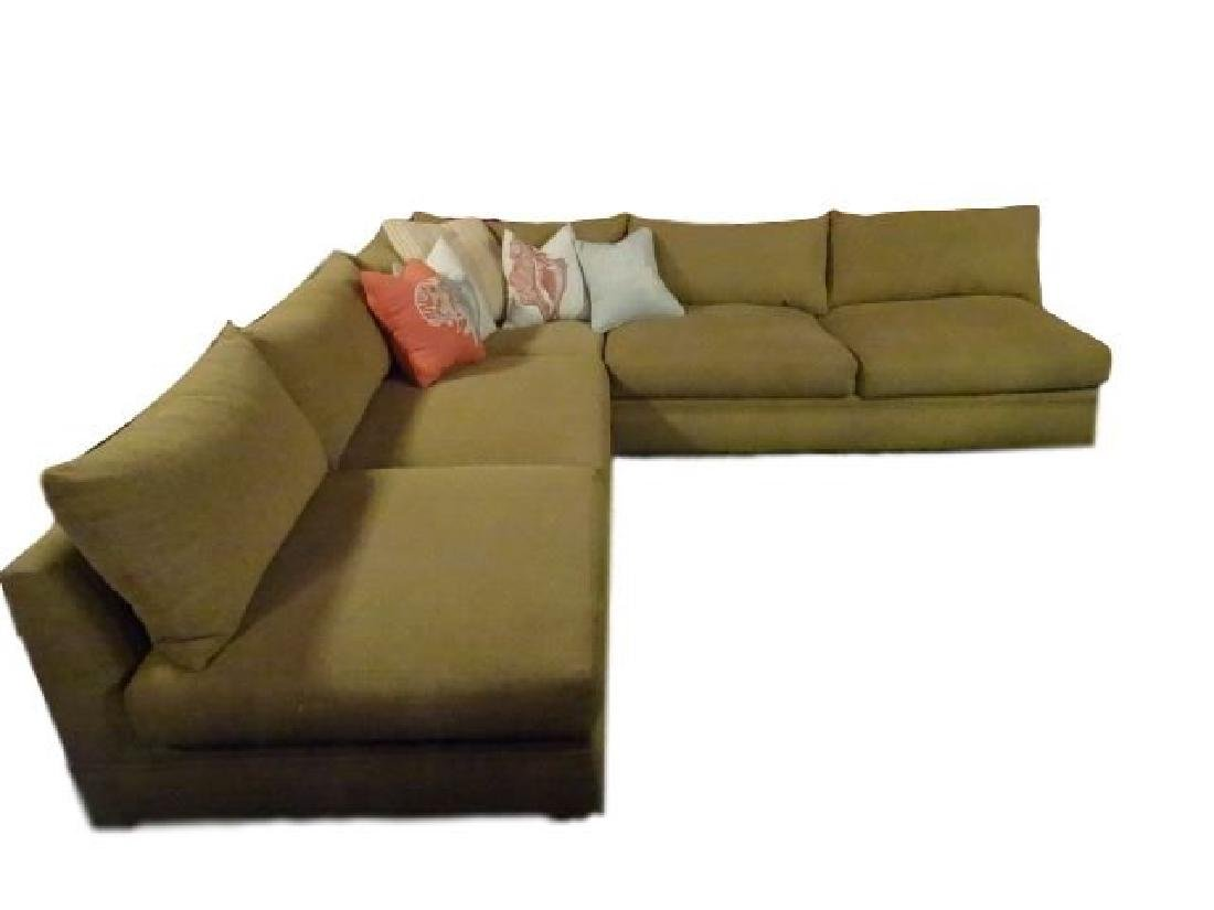 ROBB & STUCKY 2 PC SECTIONAL SOFA, MODERN ARMLESS