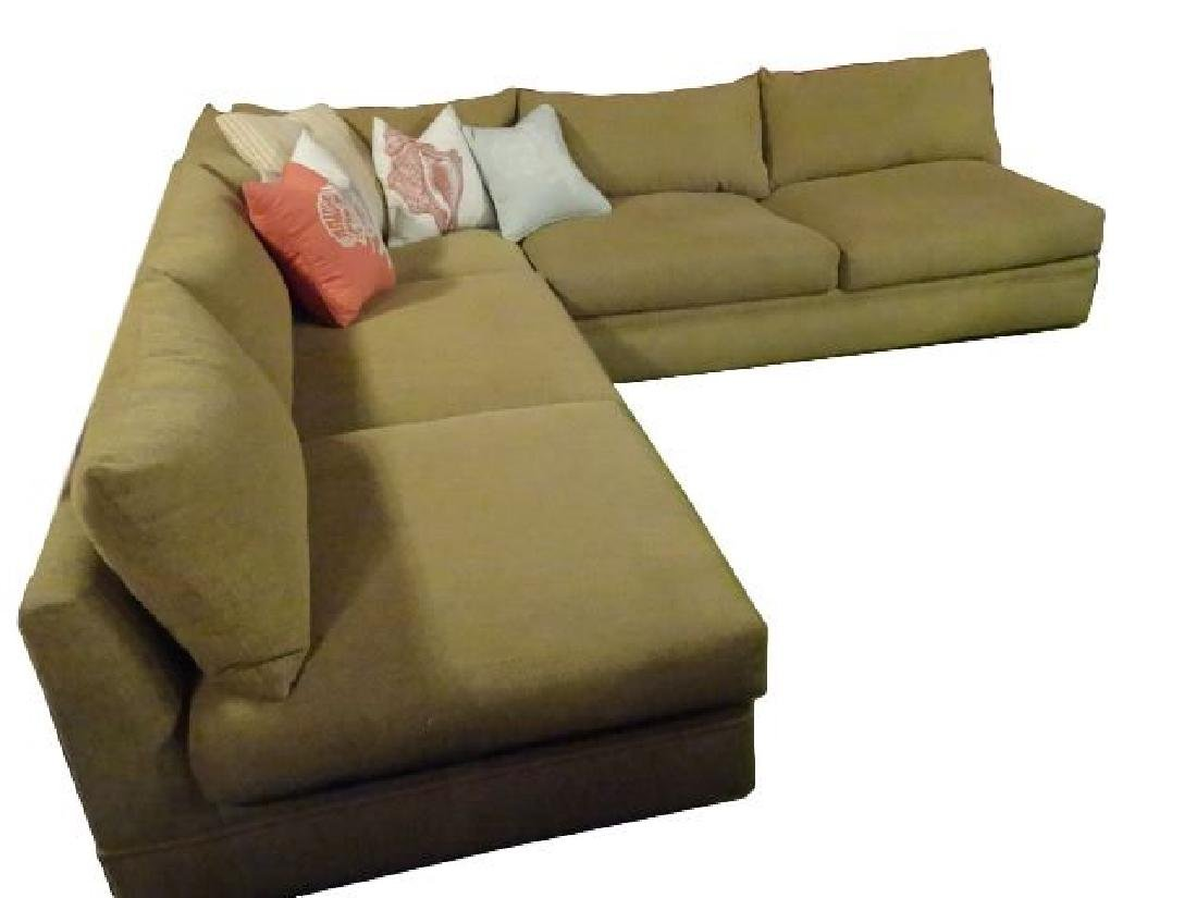 ROBB & STUCKY 2 PC SECTIONAL SOFA, MODERN ARMLESS - 2