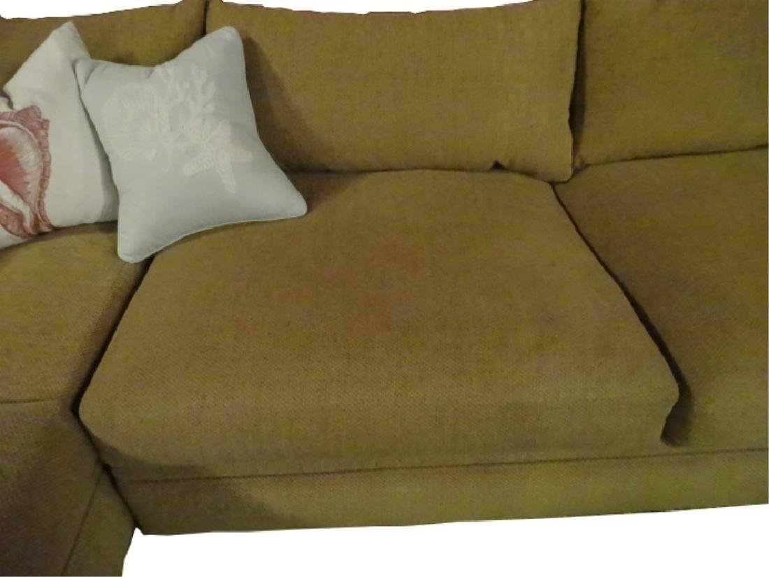 ROBB & STUCKY 2 PC SECTIONAL SOFA, MODERN ARMLESS - 3