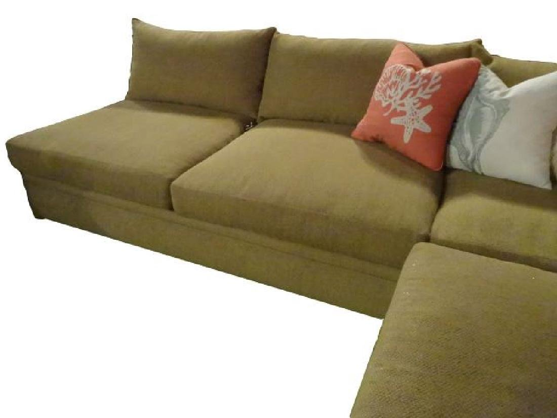 ROBB & STUCKY 2 PC SECTIONAL SOFA, MODERN ARMLESS - 4