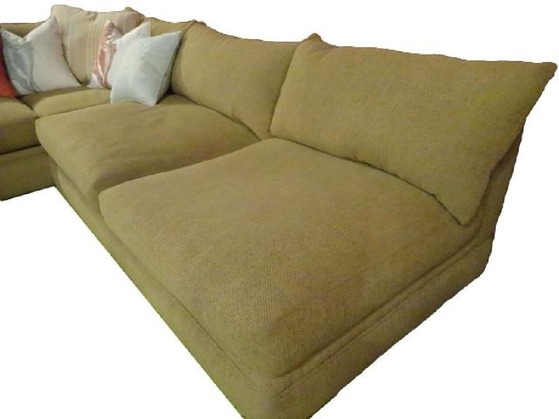 ROBB & STUCKY 2 PC SECTIONAL SOFA, MODERN ARMLESS - 5