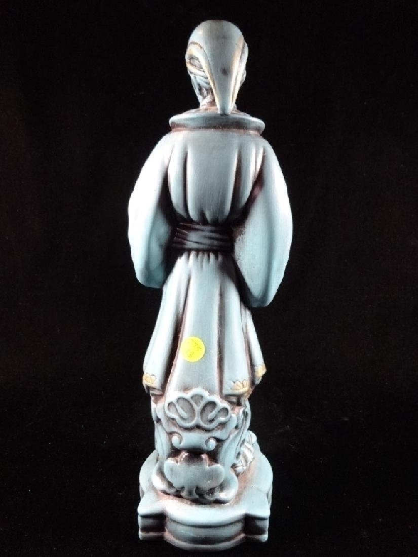"CHINESE CERAMIC SCULPTURE, STANDING MAN IN ROBE, 16"" X - 4"