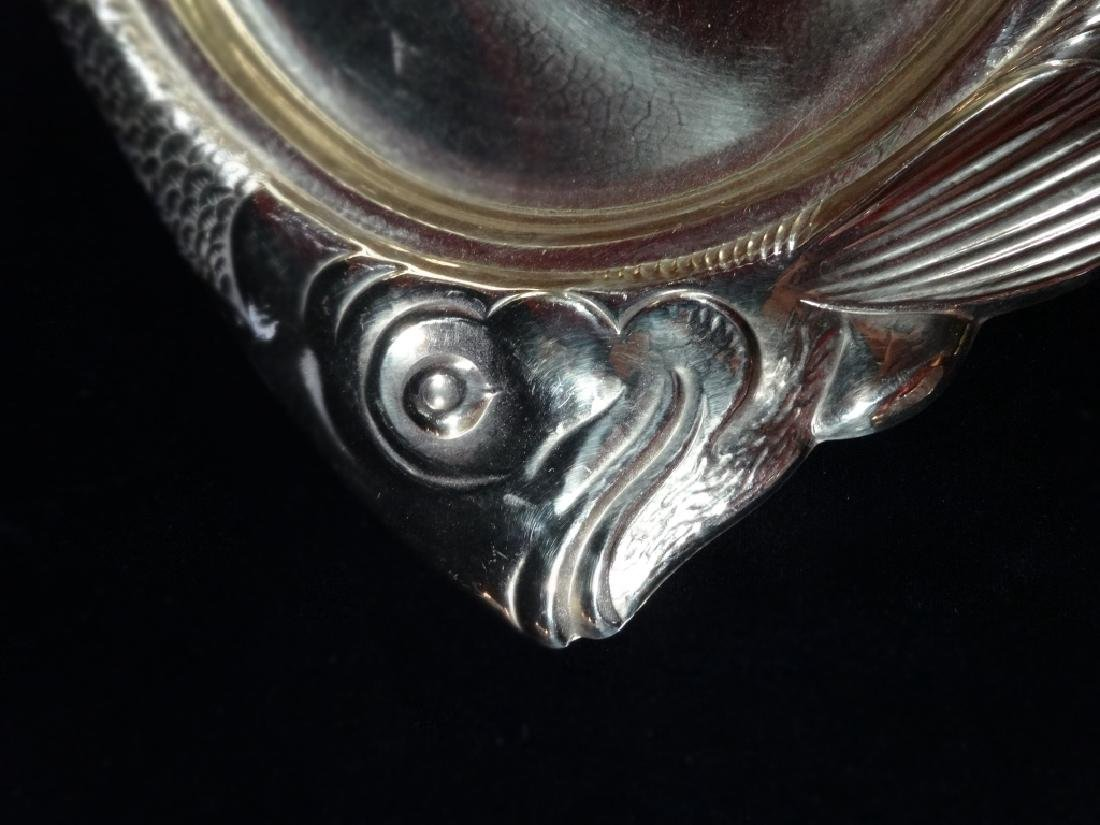 "GOLD METALLIC FINISH GLASS FISH PLATTER, APPROX 19"" X - 2"