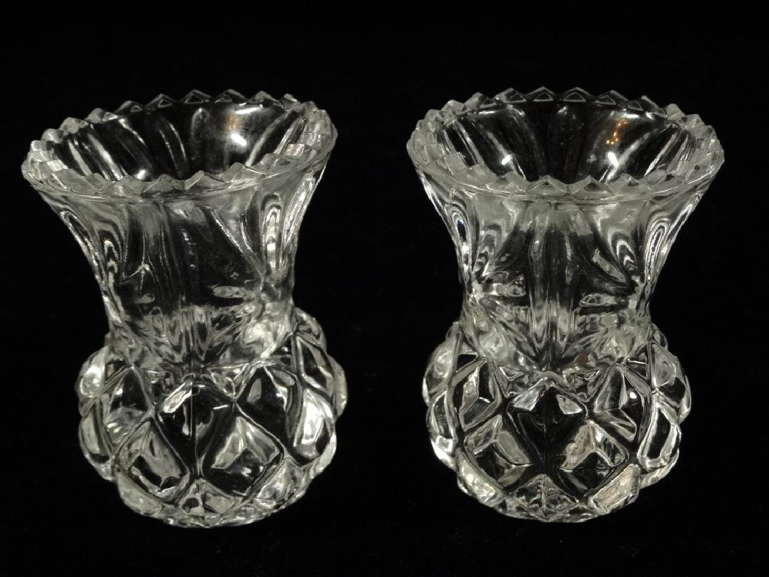 2 CRYSTAL TOOTH PICK HOLDERS, VERY GOOD CONDITION WITH