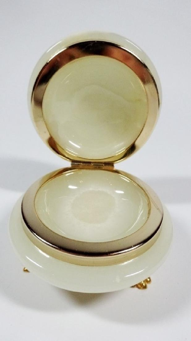 ROUND ONYX TRINKET BOX, WITH ONYX OF PAKISTAN, MADE IN - 4