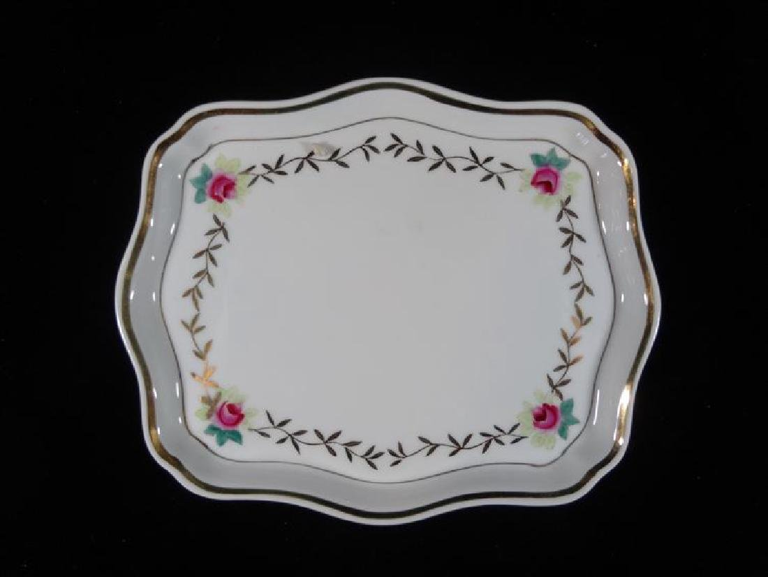 2 PORCELAIN PLATES, PAINTED WITH FLORALS ON WHITE, VERY - 2