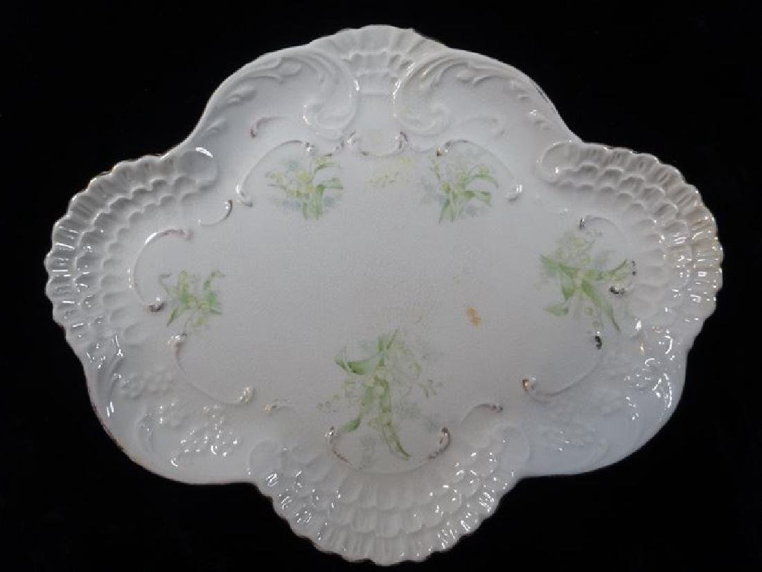 2 PORCELAIN PLATES, PAINTED WITH FLORALS ON WHITE, VERY - 4