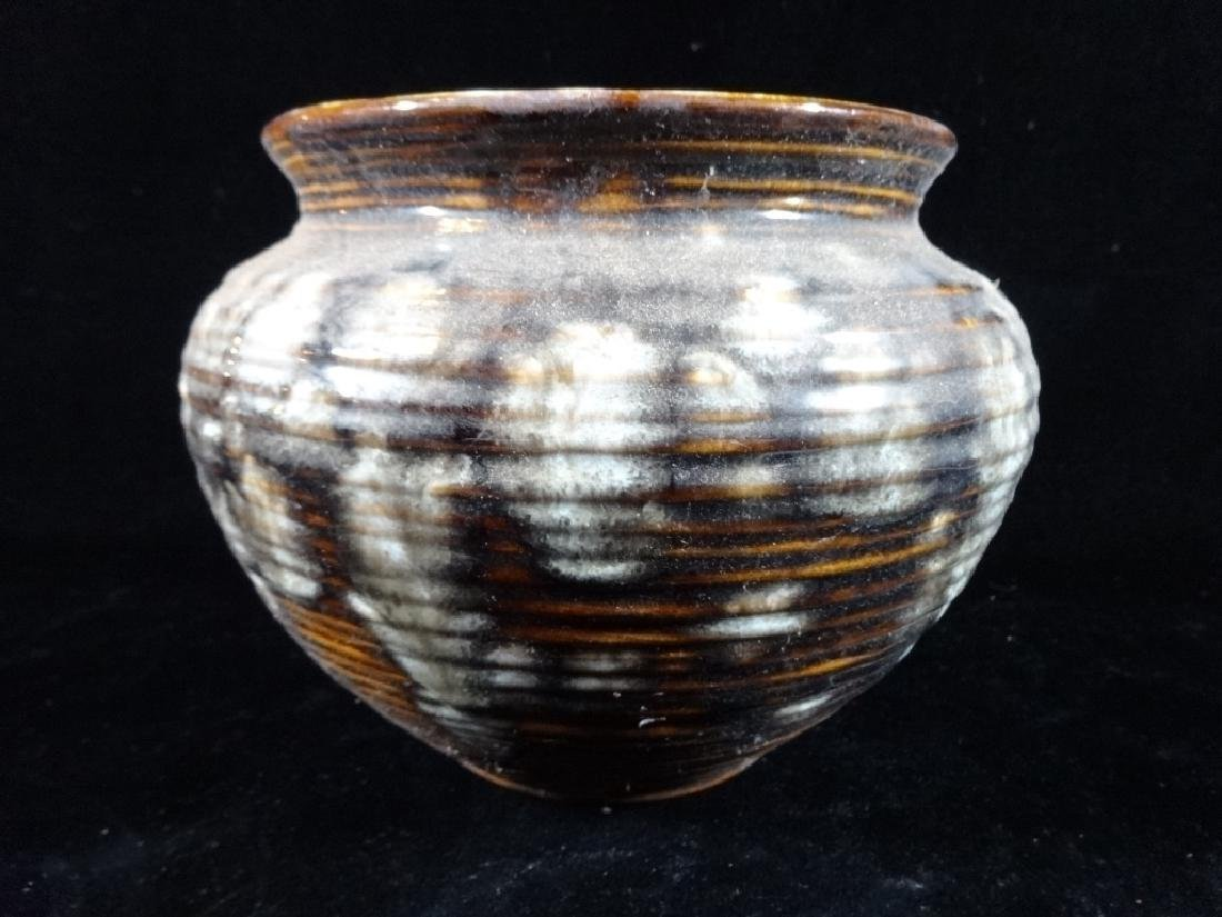 ART POTTERY VASE OR PLANTER CIRCA 1977, SIGNED AND