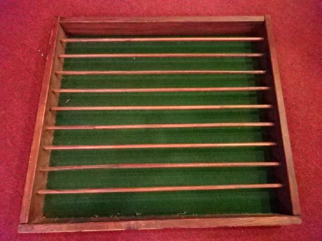 "VINTAGE WOOD GOLF BALL RACK, 24""W X 22""H, SKU5260.17"