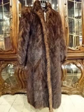 LADIES' FULL LENGTH FUR COAT BY PD FURS, MADE IN