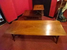 2 PC MID CENTURY MODERN TABLES, CIRCA 1950's, COFFEE