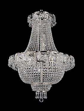 LARGE FRENCH EMPIRE STYLE CRYSTAL CHANDELIER, FREE