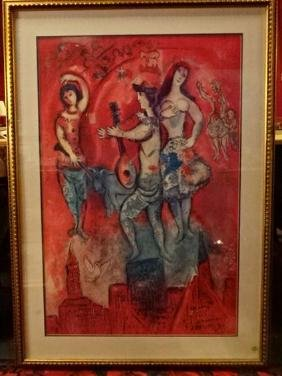 """MARC CHAGALL FRAMED LITHOGRAPH, """"CARMEN"""", MATTED AND"""