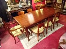 ITALIAN REGENCY STYLE DINING TABLE WITH 8 CHAIRS (2